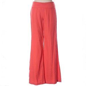Old Navy coral linen wide leg pants, Medium